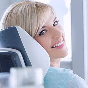 Montgomery Preventive Dentistry Lady on dental chair smiling