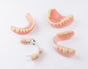 Several different types of dentures